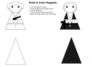 Star Wars Finger Puppet Templates
